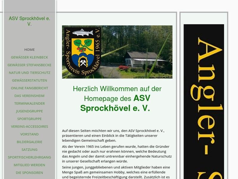 Screenshot von http://www.asv-sprockhoevel.de/